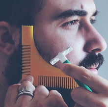 Load image into Gallery viewer, Groomarang Beard Shaping & Styling Template Comb