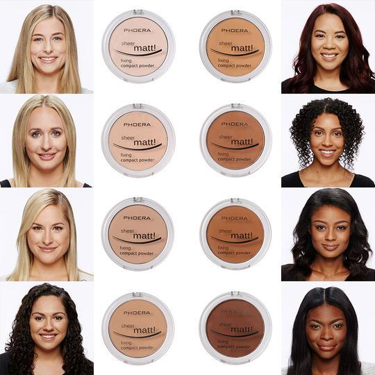 PHOERA Sheer Matte Compact Foundation Powder, Face Makeup by Forever Cosmetics