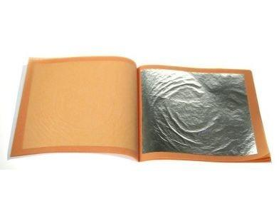 Genuine Edible Silver Leaf Booklet x 10 Sheets (4cmx4cm), Food Items by Forever Cosmetics