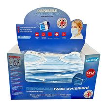 Load image into Gallery viewer, Puratise Disposable 3 Ply Face Masks- 50 Per Box- Made in the UK