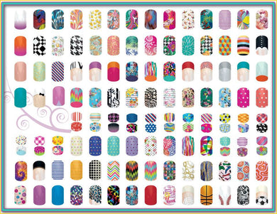 80 3D Nail Foil Wraps - X5 Packs