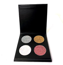 Load image into Gallery viewer, 4pc Glitter Eyeshadow Palette
