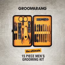 Load image into Gallery viewer, Groomarang 'The Ultimate' 15 Piece Mens Grooming Kit