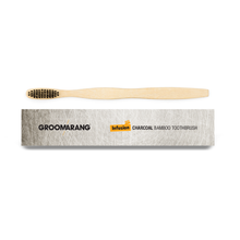 Load image into Gallery viewer, Groomarang Infusion Charcoal Bamboo Toothbrush