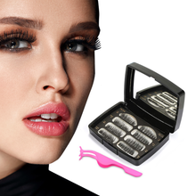 Load image into Gallery viewer, Glamza Magnetic False Eyelash Set in Black Case With Mirror and Eyelash Applicator