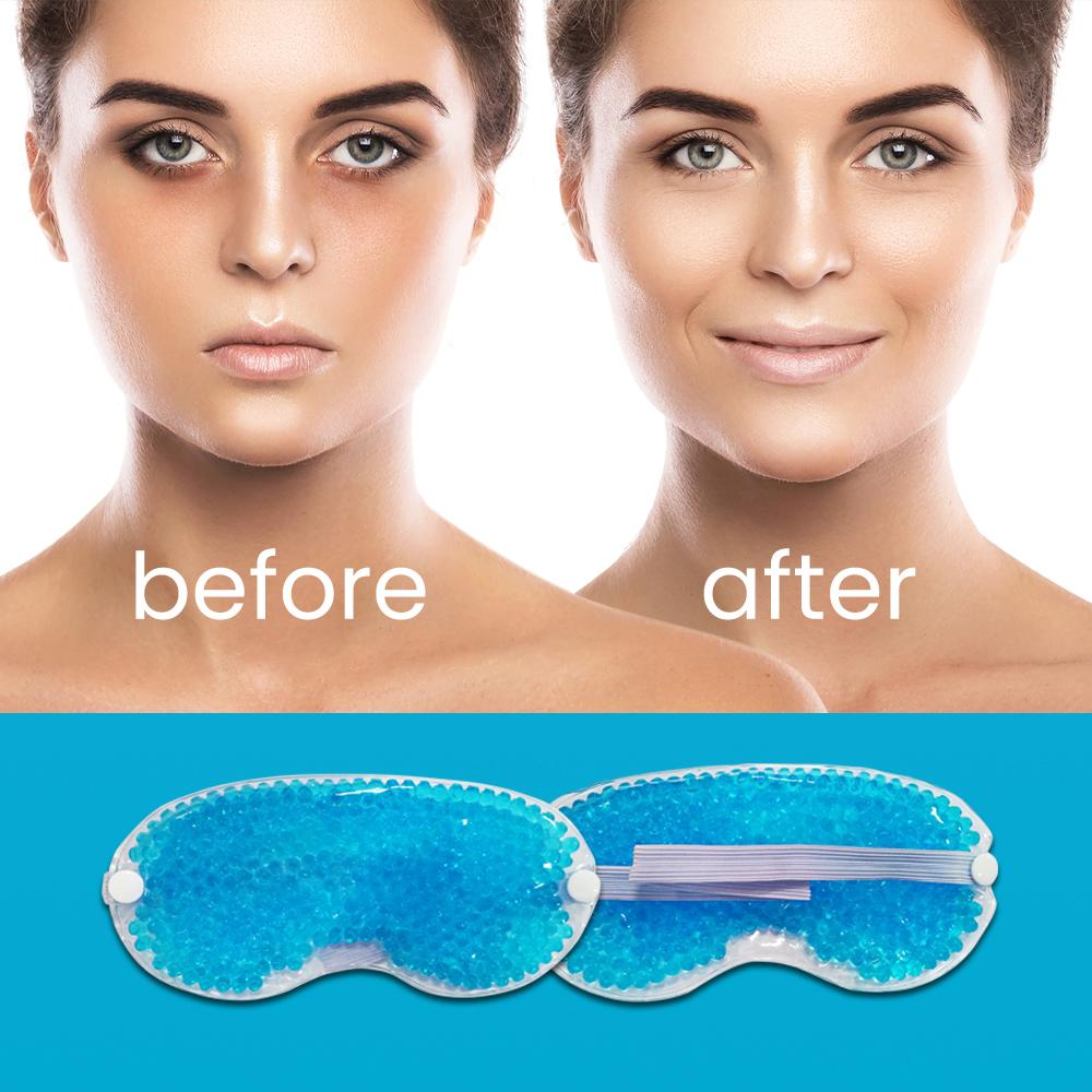 Glamza Heating or Cooling Gel Bead Eye Mask, Sleeping Aids by Forever Cosmetics