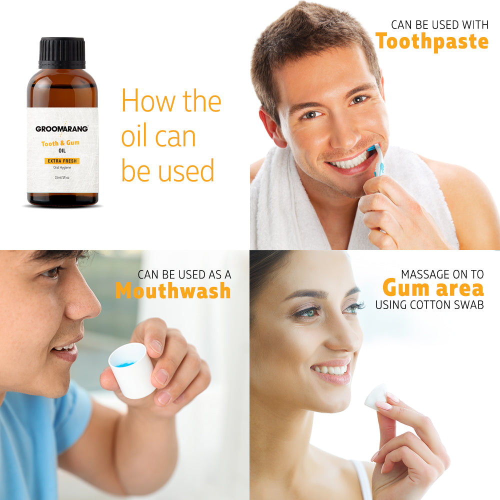 Groomarang Gum Oil and Tongue Scraper, Oral Care by Forever Cosmetics