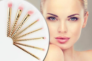 8PC LUXURY UNICORN ROSE GOLD BRUSH SET