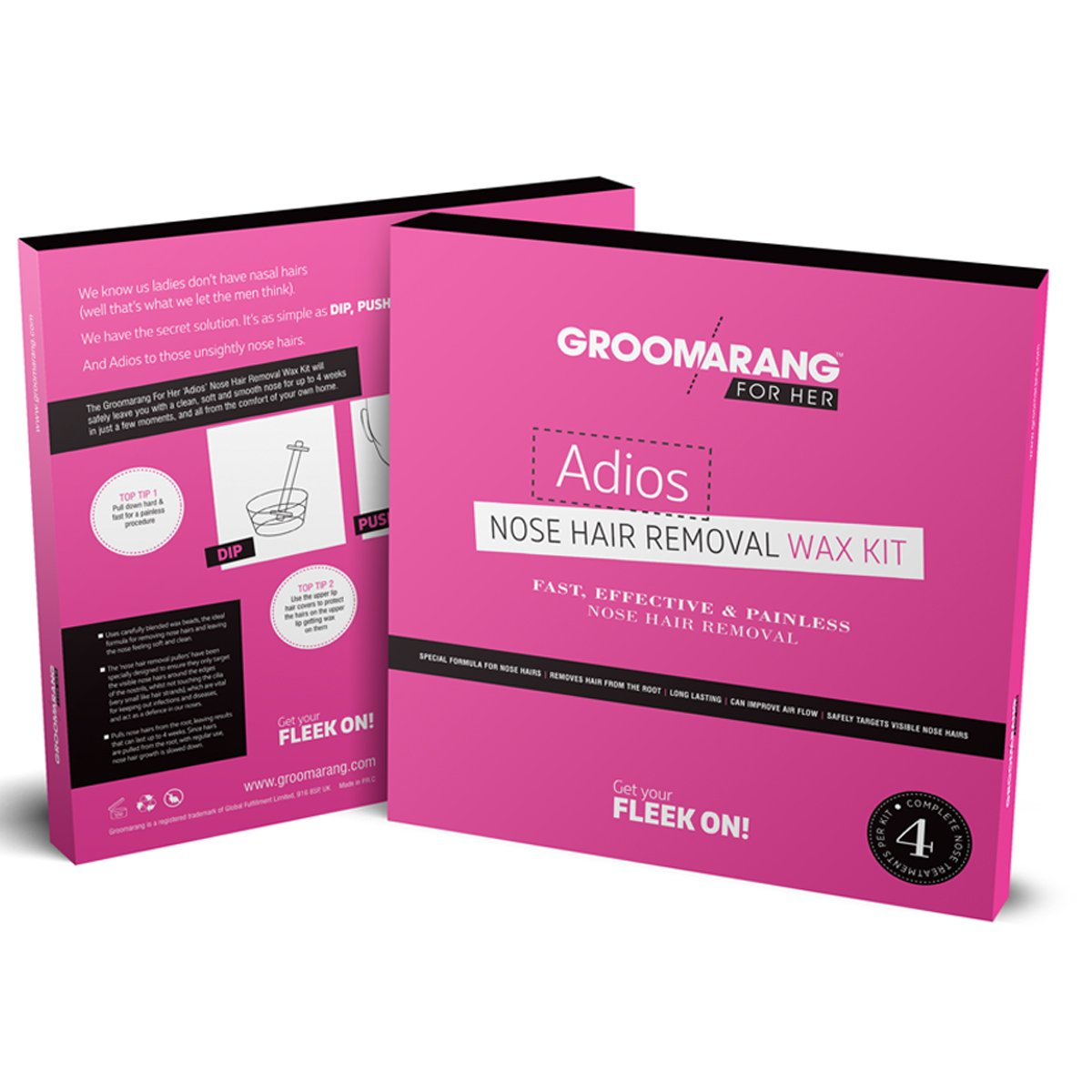 Groomarang For Her- Adios Nose Hair Removal Wax Kit For Her, Hair Removal by Forever Cosmetics