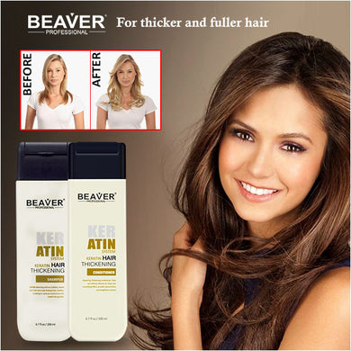 Beaver Keratin Shampoo & Conditioner 200ml