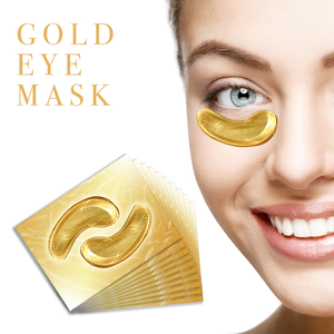 Crystal Collagen Gold Face Mask x10, Eye Mask 10 & Lip Mask x10 Bundle