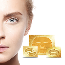 Load image into Gallery viewer, Gold Collagen Face Masks x10, Gold Collagen Eye Masks x10 (5 pairs) & Gold Collagen Lip Masks x10 Bundle