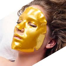 Gold Collagen Face Masks x10, Gold Collagen Eye Masks x10 (5 pairs) & Gold Collagen Lip Masks x10 Bundle
