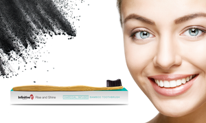 Infinitive Beauty Rise and Shine Charcoal Bamboo Toothbrush