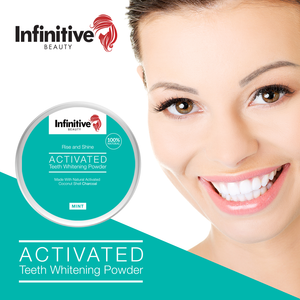 Infinite Beauty Rise and Shine Activated Charcoal Teeth Whitening Powder - 50g Tub
