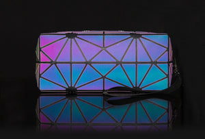 Pryzm 'Holographic & Reflective' Makeup Bag And Pencil Case - 3 Sizes