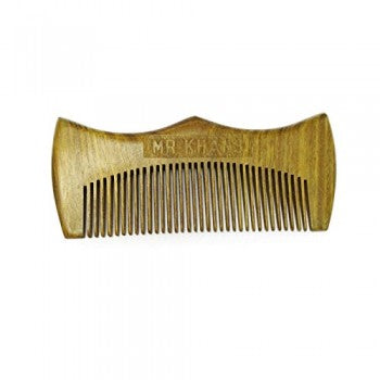 Mr Khans Handmade Engraved Wooden Beard Comb