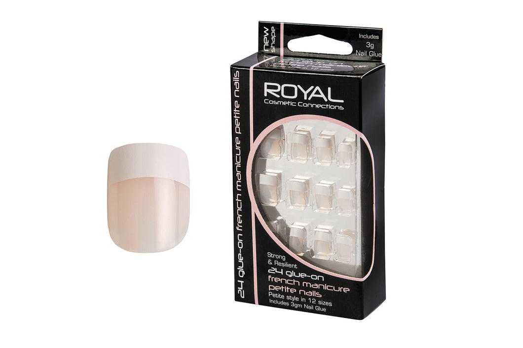 Royal Cosmetic Connections - x24 Glue On French Manicure Nails