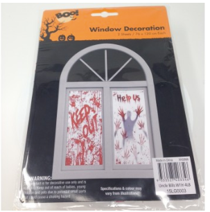 Halloween Window Decorations - 2 Sheets Per Pack by  Forever Cosmetics