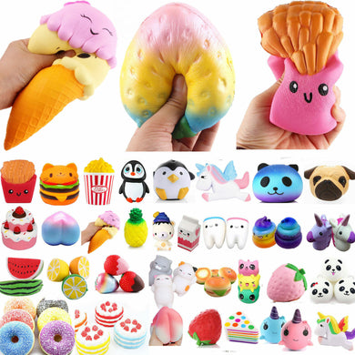 Squishies - Super Soft Key Chain Stress Relief Toys