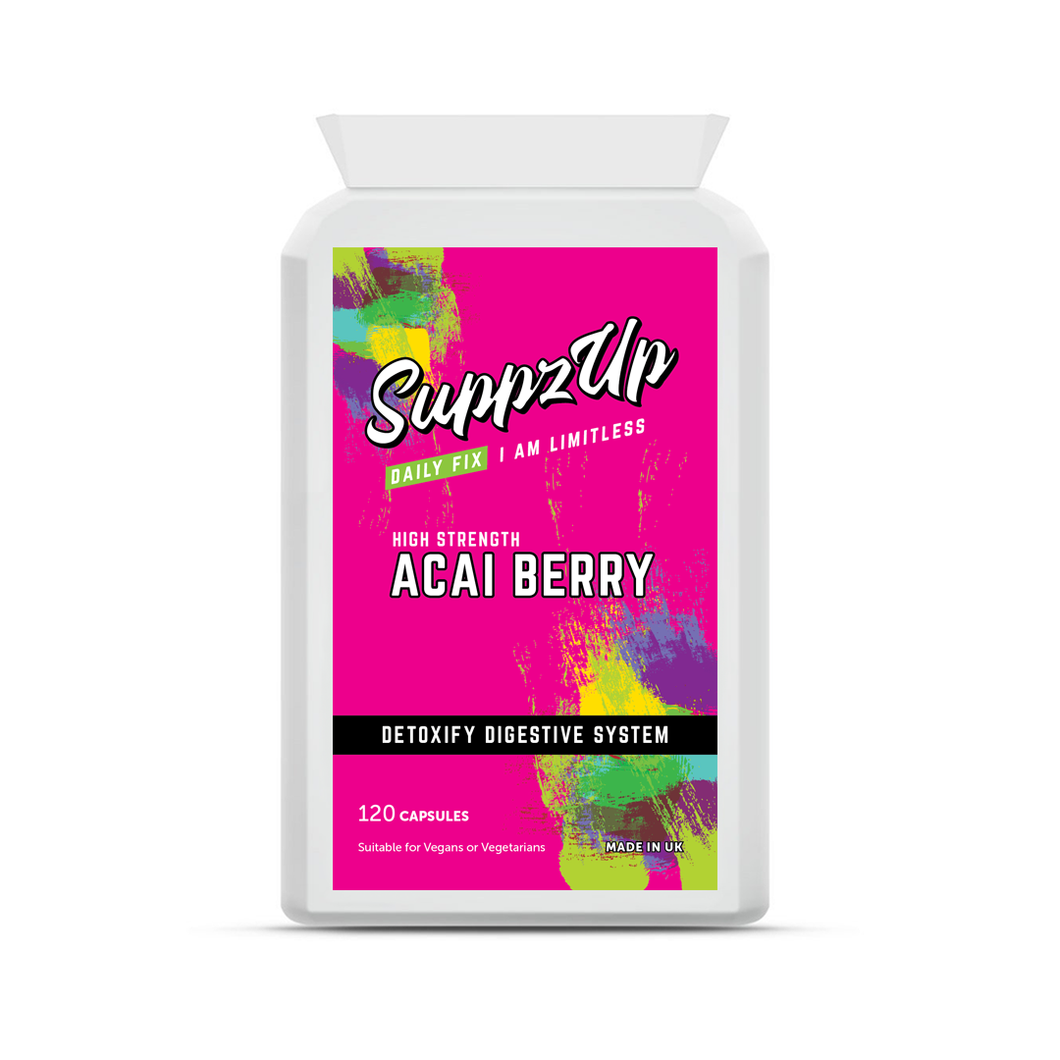 SuppzUp Acai Berry 1000mg - 120 Capsules