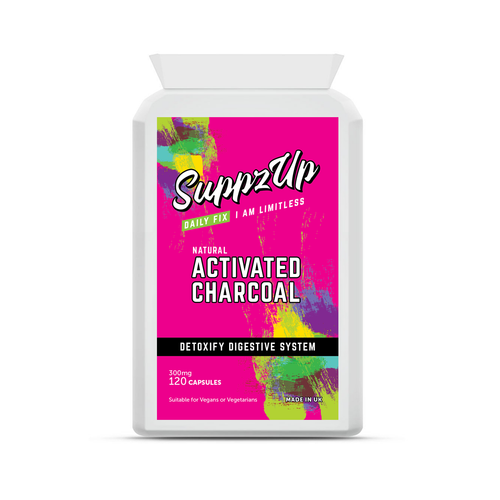 SuppzUp Activated Charcoal 300mg - 120 Capsules