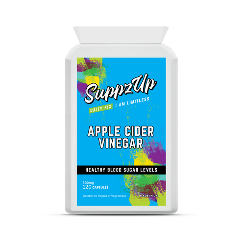 SuppzUp Apple Cider Vinegar 500mg - 120 Capsules