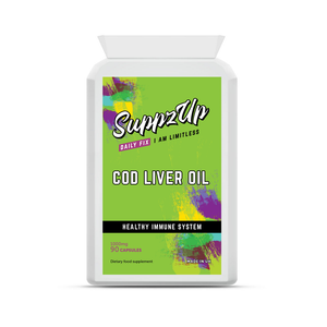 SuppzUp Cod Liver Oil 1000mg - 90 Capsules