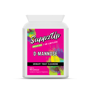 SuppzUp D-Mannose 500mg - 90 Capsules