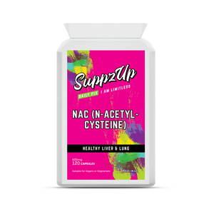 SuppzUp NAC (N-Acetyl Cysteine) 600mg - 120 Capsules