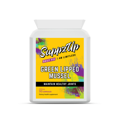 SuppzUp Green Lipped Mussel 500mg - 90 Capsules