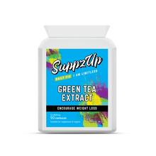 Load image into Gallery viewer, SUPPZUP- GREEN TEA 30:1 EXTRACT 12,480MG 90 CAPSULES