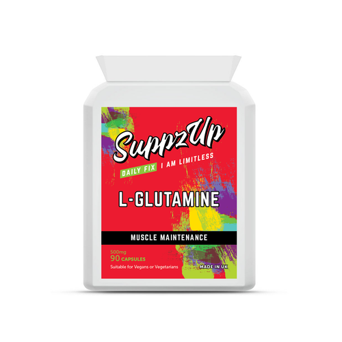 SuppzUp L-Glutamine 500mg - 90 Capsules