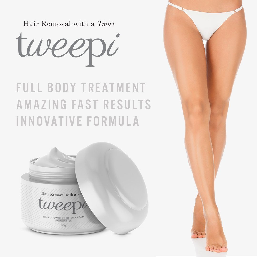 Tweepi Hair Growth Inhibitor Cream, Hair Removal by Forever Cosmetics