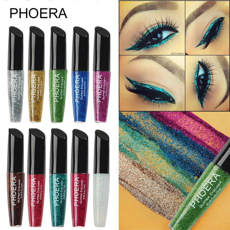 Phoera Glitter Glam Liquid Eyeliner, Personal Care by Forever Cosmetics