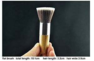 11pc Luxury Bamboo Makeup Brushes and Carry Bag - Individual Brushes