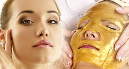 10 Gold Collagen Face Masks and Head Cap by  Forever Cosmetics