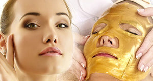 10 Gold Collagen Face Masks and Head Cap