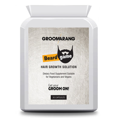 Groomarang 'Beard Game' Beard Growth Tablets