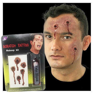 Halloween Scratch Tattoo Makeup Kit