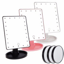 Load image into Gallery viewer, 22 LED Magnifying Touch Screen Vanity Mirror
