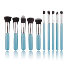 Load image into Gallery viewer, Glamza 10pc Blue Brush Set