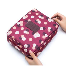 Load image into Gallery viewer, Glamza Polka Dot Make Up Travel Bag