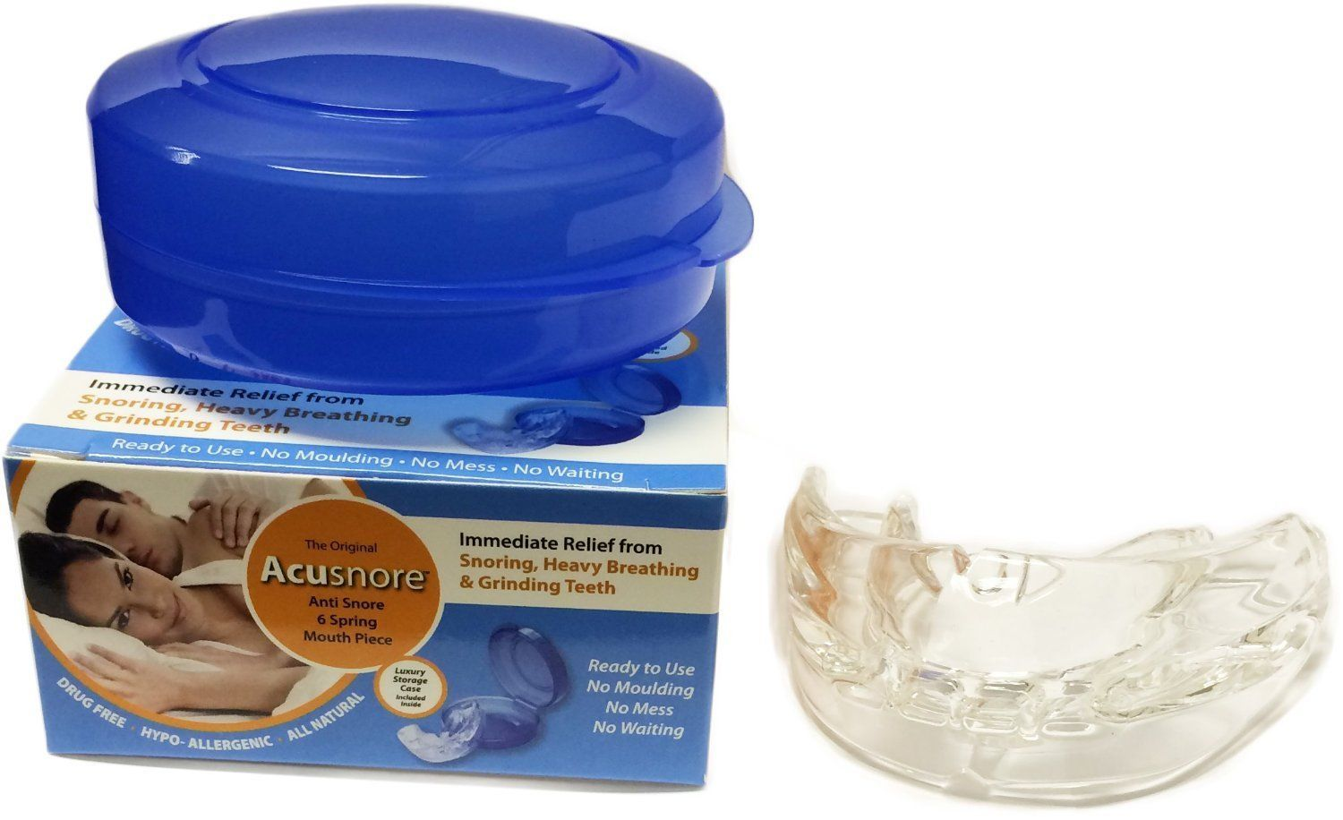 Acusnore Anti Snore 6 Spring Mouth Piece by  Forever Cosmetics