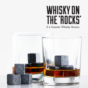 Granite Whiskey Ice Cooler Stones (Reusable)