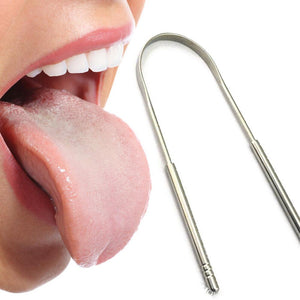 GLAMZA Stainless Steel Tongue Scraper