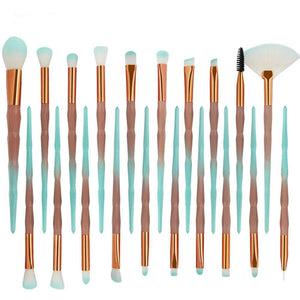 20pc Diamond Make Up Brush Set