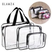 Load image into Gallery viewer, Glamza 3 Set PVC Clear Travel Bags Pink