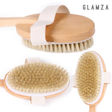 Load image into Gallery viewer, Glamza 2 in 1 Bath Shower & Dry Skin, Exfoliating Body Brush With Detachable Handle