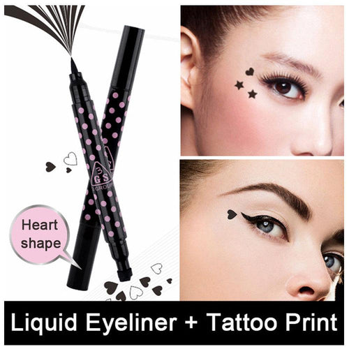 2 in 1 Liquid Eyeliner Pen & Heart Stamp